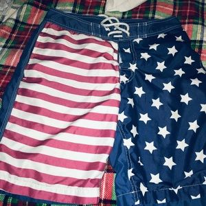 Men's Gap Stars and Stripes swim trunks size small